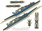 MCS Bicycle SPEED FREAK decal kit BLUE