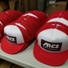 MCS Bicycles Retro Trucker Hat RED / WHITE