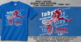Moto-up Toby Henderson t-shirt BLUE