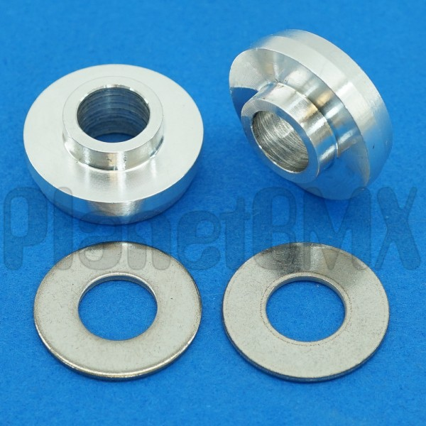 """BMX Bicycle dropout axle adapters 3//8/"""" 10mm to 14mm titanium grade5"""