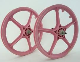 "1984-1988ish NOS Hutch stamped OGK 20"" F/W Mag Wheel Set PINK"