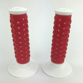 Oakley B-1B grips- RED over WHITE (New production)