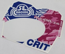 SE / PlanetBMX numberplate PINK CAMO