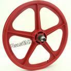 "RED 20"" Skyway Tuff Wheel II SET- 9 Tooth CASSETTE"
