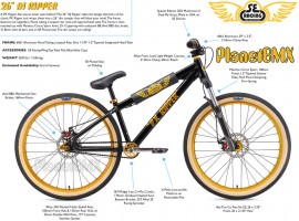 "2019 SE Racing 26"" DJ Ripper bike - PRE ORDER DEPOSIT"