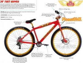 """2019 SE Racing 29"""" Fast Ripper bike Red - PRE ORDER DEPOSIT"""