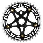 SE Racing 39T 5-bolt Chainring / Spider combo BLACK/GOLD/BLACK