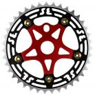 SE Racing 39T 5-bolt Chainring / Spider combo BLACK/GOLD/RED