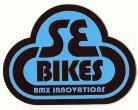 SE Bikes Bubble logo vinyl decal BROWN/BABY BLUE