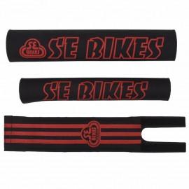 SE Bikes Padset BLACK with RED logo