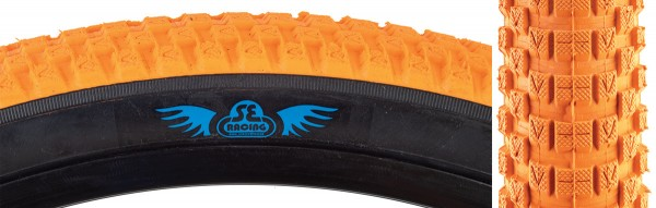 """SE Racing BMX Bicycle Orange Black Side Wall Cub Tire 20/"""" x 2.0/"""" 1 Only New"""