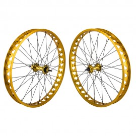 "26"" X 4"" Fat Wheel SE Racing Wheelset GOLD"