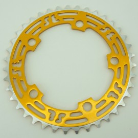 39t SE Racing 5-bolt CNC Chainring GOLD