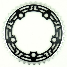 39t SE Racing LOGO 5-bolt CNC Chainring BLACK
