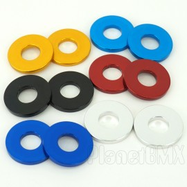 "SE Racing Alloy Hub Washers (Pair) 3/8"" IN COLORS"