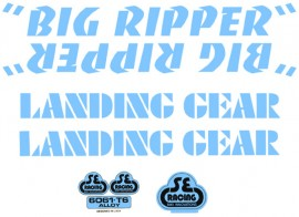 SE Racing Big Ripper frame & fork decal kit BABY BLUE