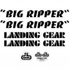 SE Racing Big Ripper frame & fork decal kit BLACK