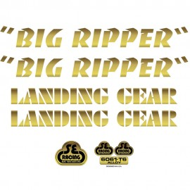 SE Racing Big Ripper frame & fork decal kit GOLD