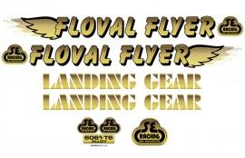 SE Racing Floval Flyer frame & fork decal kit GOLD
