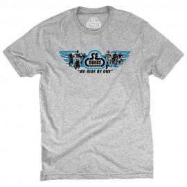 """SE Racing """"Group Ride"""" We Ride As One T-Shirt HEATHER GRAY"""