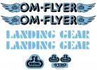 SE Racing OM FLYER frame & fork decal kit BABY BLUE