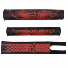 SE Racing Vinyl Retro Padset BLACK with RED logo