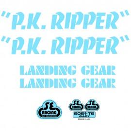 SE Racing PK Ripper frame & fork decal kit BABY BLUE