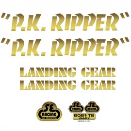 SE Racing PK Ripper frame & fork decal kit GOLD
