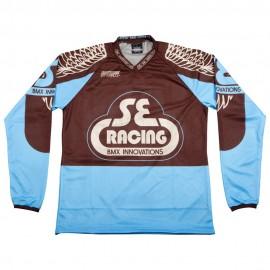SE Racing Retro Jersey BROWN / BABY BLUE