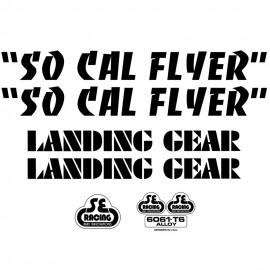 SE Racing SoCal Flyer frame & fork decal kit BLACK