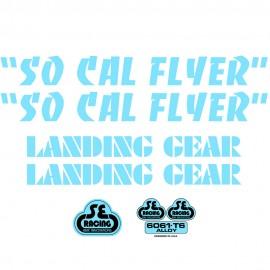 SE Racing SoCal Flyer frame & fork decal kit BABY BLUE