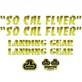 SE Racing SoCal Flyer frame & fork decal kit GOLD