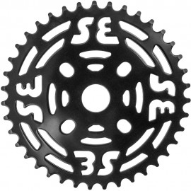 39t SE Racing One Piece Steel Sprocket BLACK or CHROME