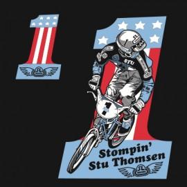 "SE Racing ""STOMPIN STU"" #1 T-Shirt BLACK"