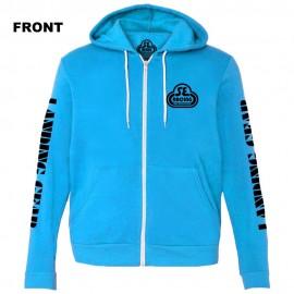 SE Racing Zipper Hoodie Sweatshirt NEON BLUE