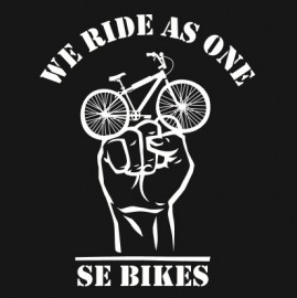 "SE Racing ""WE RIDE AS ONE"" T-Shirt BLACK"