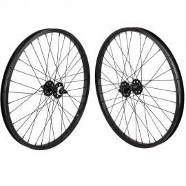 """24""""x1.75"""" SE Racing Sealed Bearing Wheelset BLACK"""