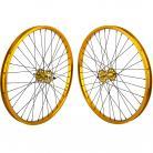 """24""""x1.75"""" SE Racing Sealed Bearing Wheelset GOLD"""