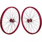 """24""""x1.75"""" SE Racing Sealed Bearing Wheelset RED"""
