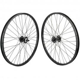 """26""""x1.75"""" SE Racing Sealed Bearing Wheelset BLACK"""