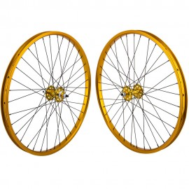 "26""x1.75"" SE Racing Sealed Bearing Wheelset GOLD"
