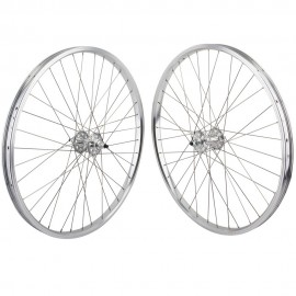 "26""x1.75"" SE Racing Sealed Bearing Wheelset SILVER"