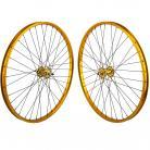 """29""""x1.75"""" SE Racing Sealed Bearing Wheelset GOLD"""