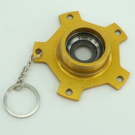 """Skyway """"Team Used"""" Campy Gen 1 Gold Graphite Rear Alloy Flange Early 80'S Keychain / Christmas Ornament"""