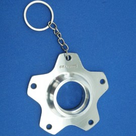 Skyway Graphite Alloy Flange 80'S Keychain / Christmas Ornament SILVER NOS