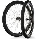 "29""x1.75"" S&M / FIT Sealed Bearing Alloy Wheelset w/ Tires BLACK Hubs & Rims"