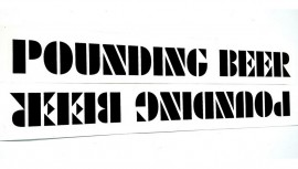 """S&M Bikes """"Pounding Beer"""" fork decals"""