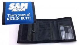 S&M Action 30 Years velcro Wallet BLUE