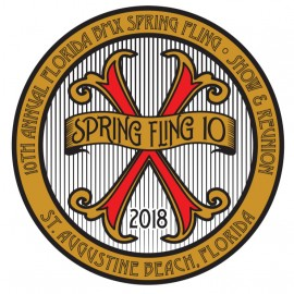 Florida BMX Spring Fling X Round Decal