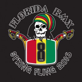 2016 Florida BMX 8th Annual Spring Fling T-shirt BLACK (Rasta)